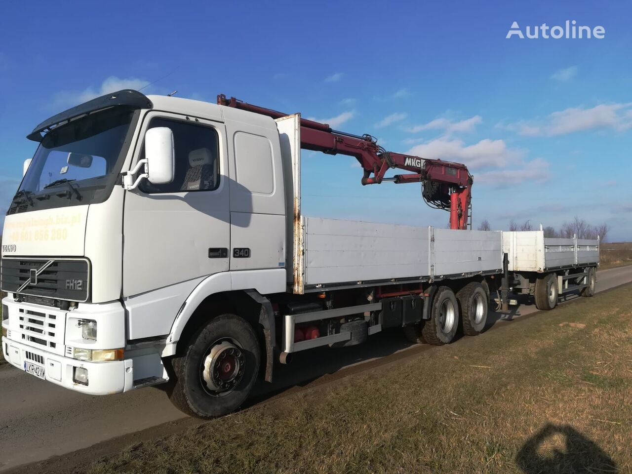 VOLVO Fh 12 6x4R flatbed truck + flatbed trailer