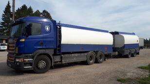 SCANIA R420 6x2 fuel tank fuel truck + fuel tank trailer