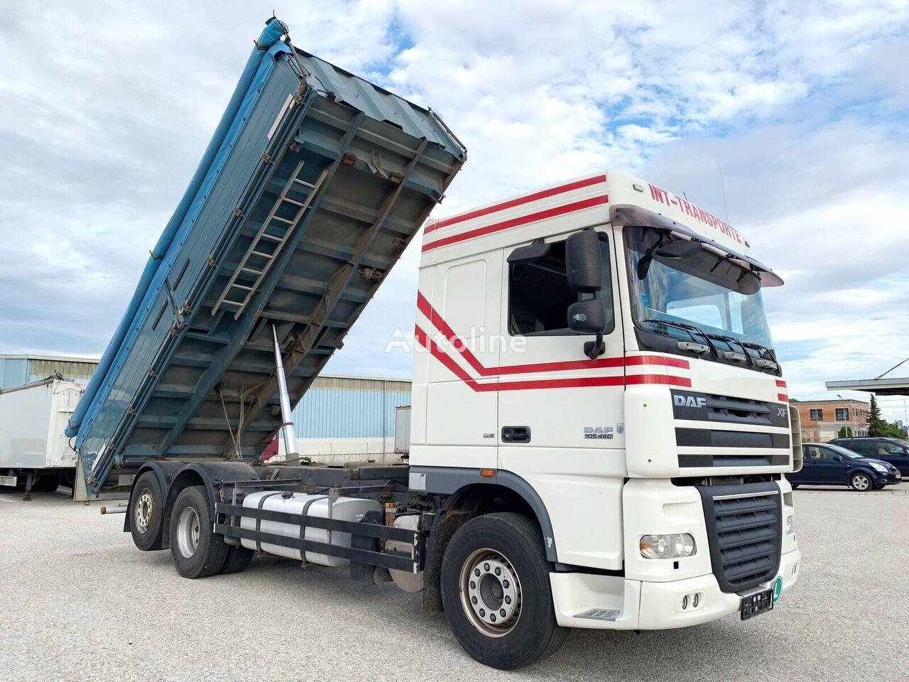 DAF FAR XF105/ 3-Seiten GETREIDEKIPPER ''NEUE KUPPLUNG'' VOLLLUFTFED grain truck