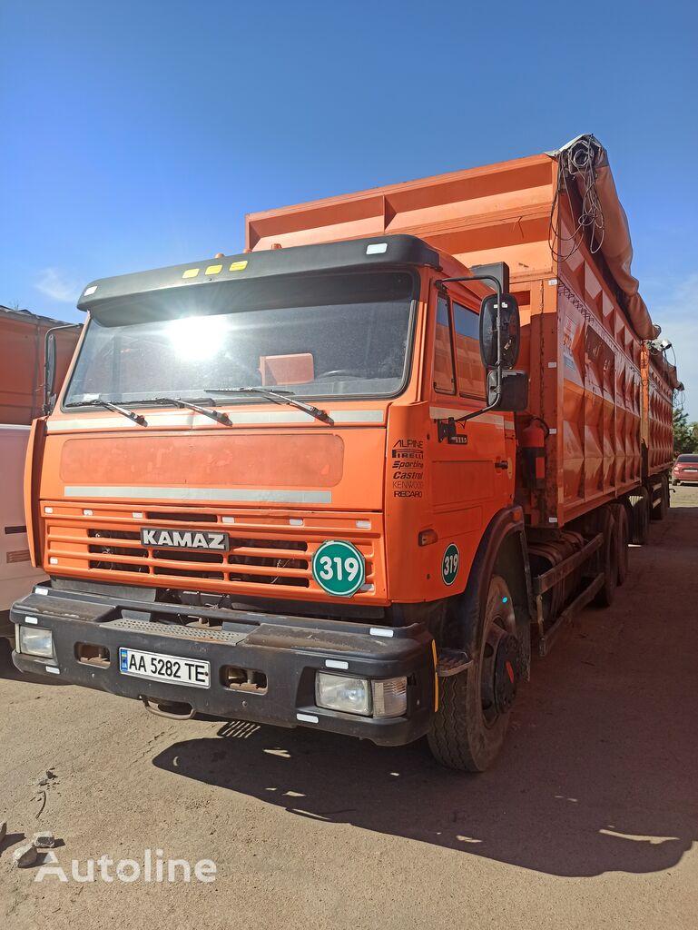 KAMAZ 651153 grain truck + grain trailer