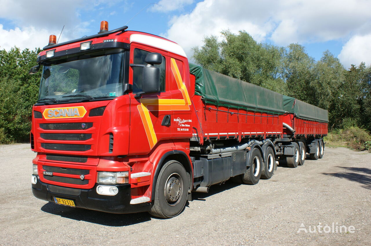 SCANIA R560 grain truck + grain trailer