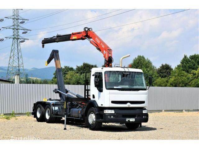 RENAULT Kerax 370  hook lift truck