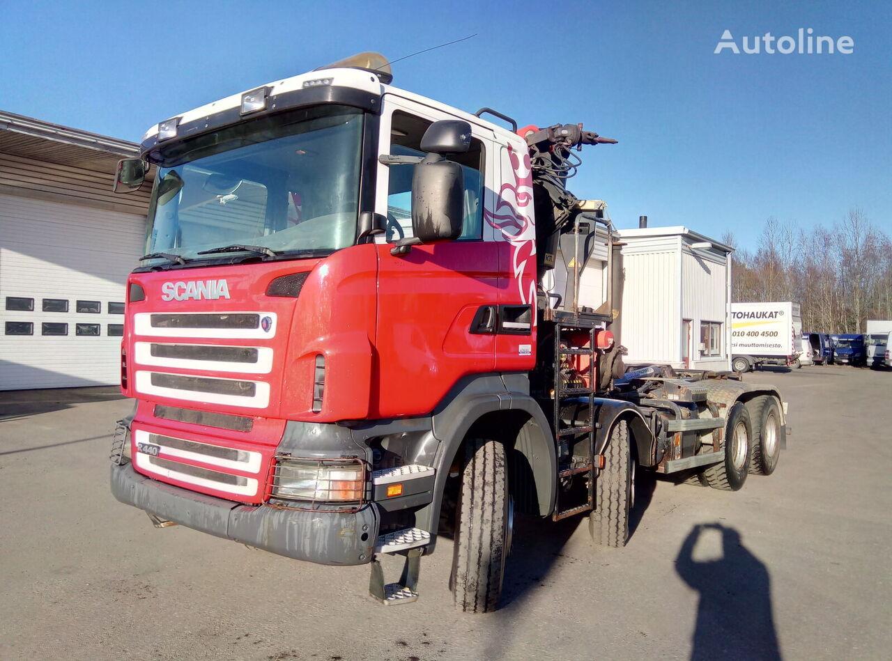 SCANIA R440 8X4 hook lift truck