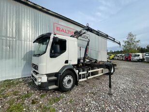 VOLVO FL280, 4x2 HOOKLIFT + HIAB CRANE hook lift truck