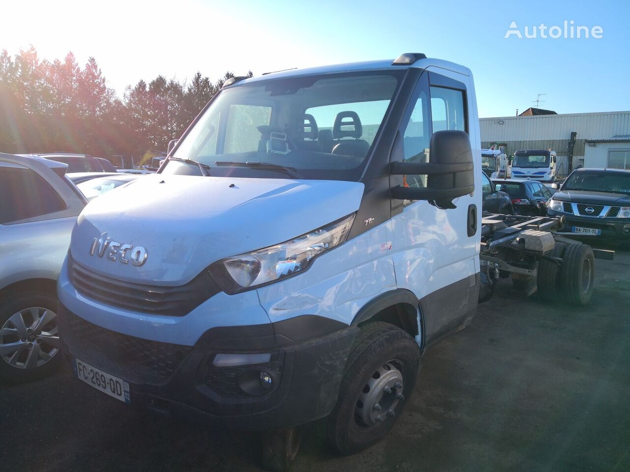 damaged IVECO DAILY 72C18/MARREL A40 *ACCIDENTE*DAMAGED*UNFALL* hook lift truck