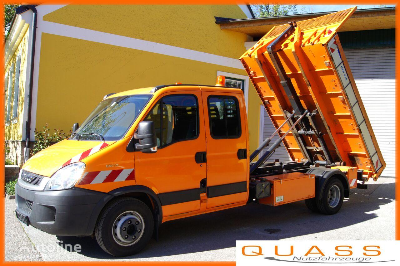IVECO Daily 65C17D /DOKA 7 Sitze / Euro5 EEV / 3t Abrollkipper  hook lift truck