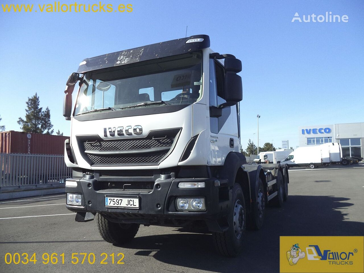 IVECO Stralis AD340T41 hook lift truck