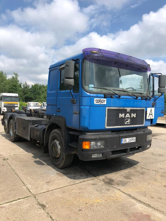 MAN 29.293 6x2  MANUAL TOOOP! hook lift truck