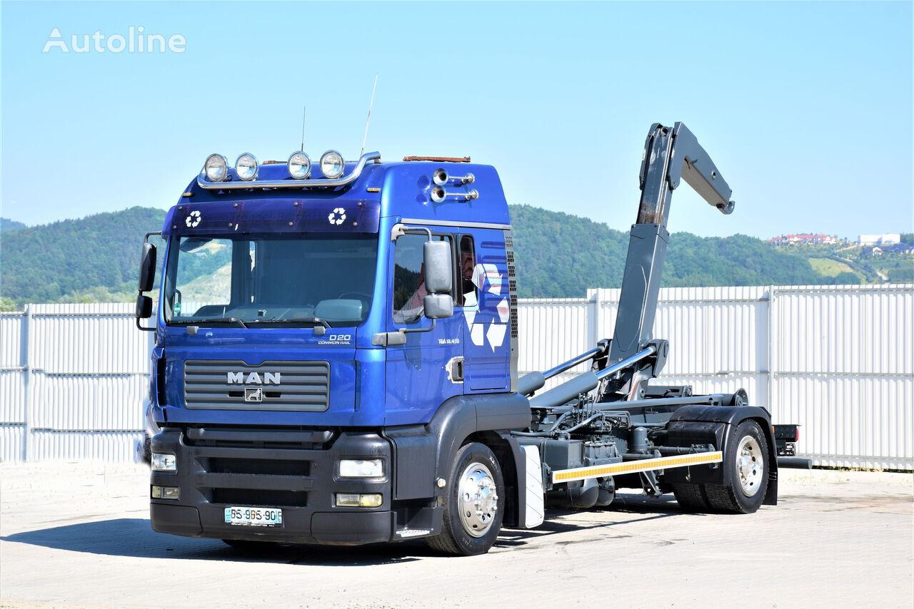 MAN TGA 18.430 Abrollkipper 5,40m * Top Zustand! hook lift truck