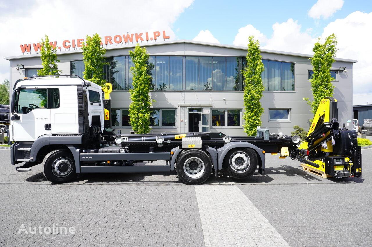 MAN TGS 26.400 , Sleep cab ,NEW , 400km , 6x4x4 , HYDRODRIVE , NEW H hook lift truck