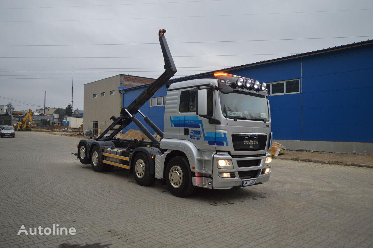 MAN TGS 35.440 HAKOWIEC MEILLER RK 20.70 EURO5 EEV 8x2 hook lift truck