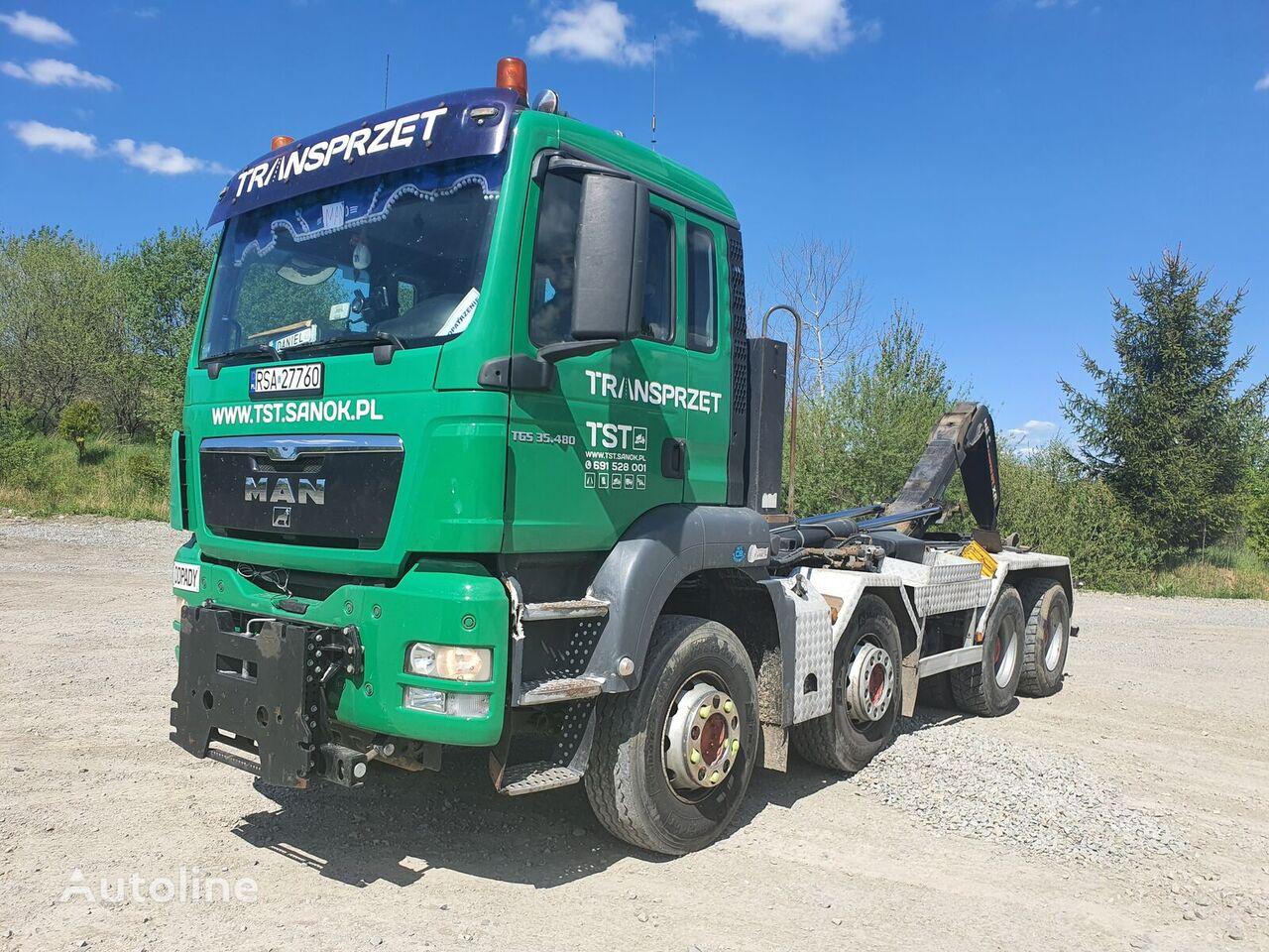 MAN TGS 35.480 hook lift truck
