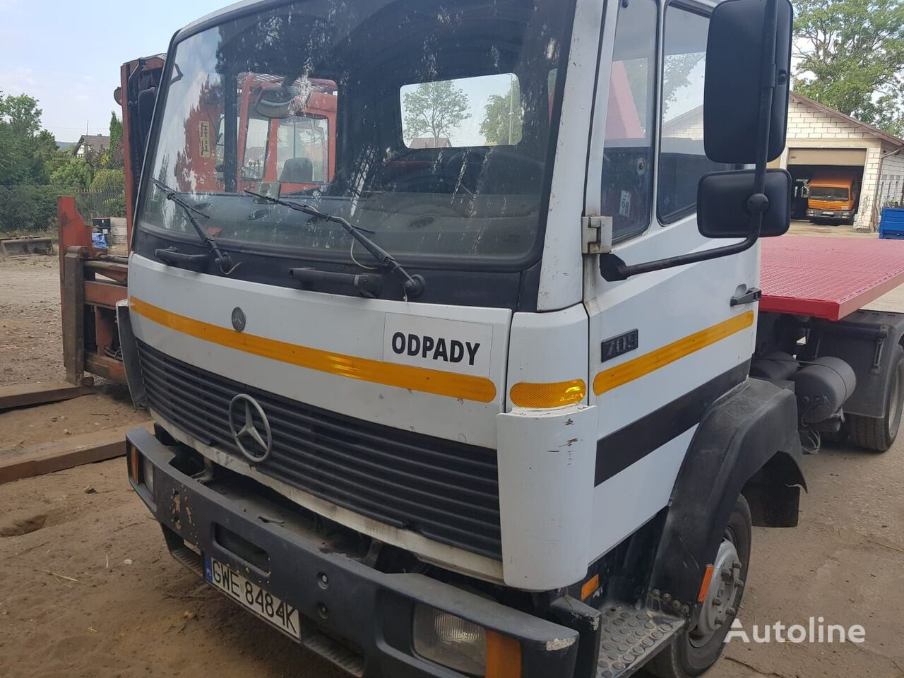 MERCEDES-BENZ 705 with new hook  hook lift truck