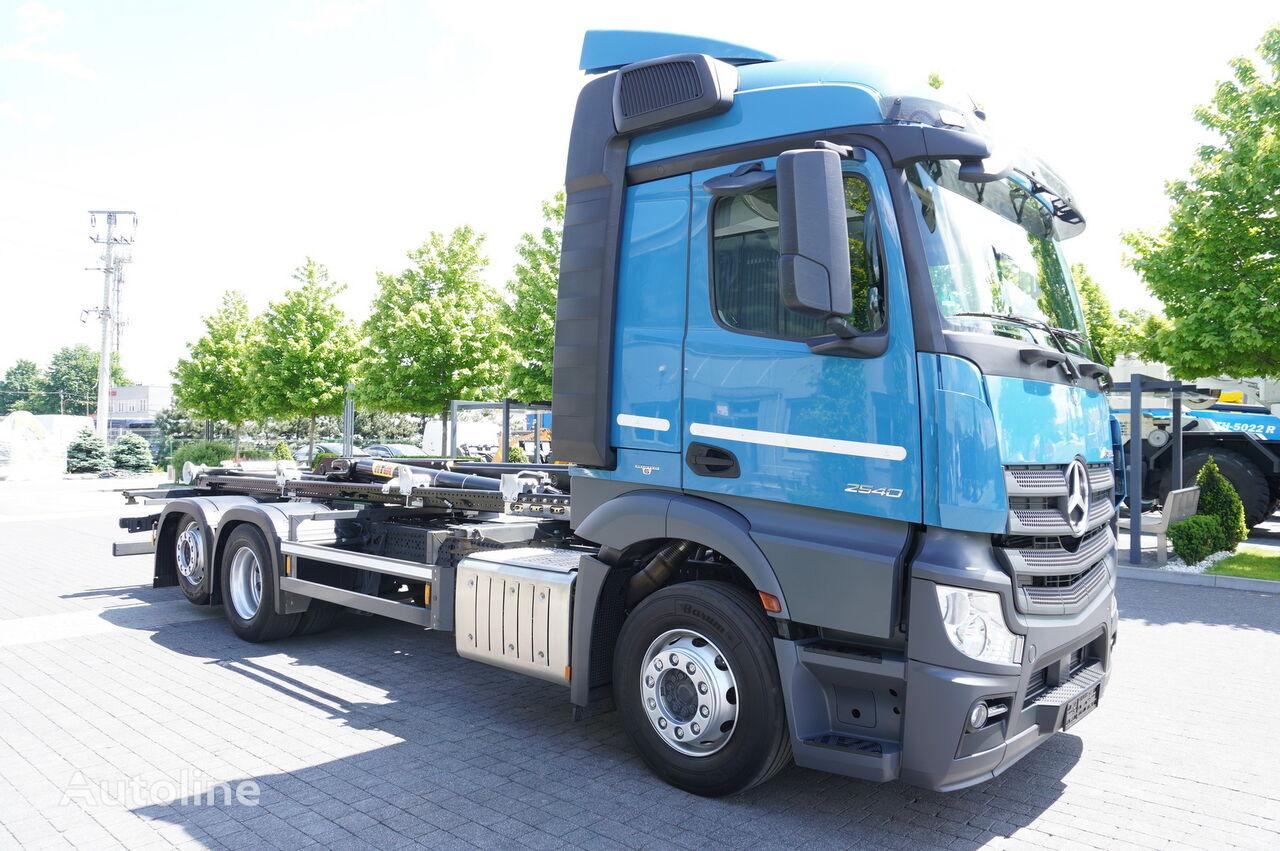 MERCEDES-BENZ Actros 2540, E6, 6X2, NEW HYVA 20T HOOK, Retarder hook lift truck
