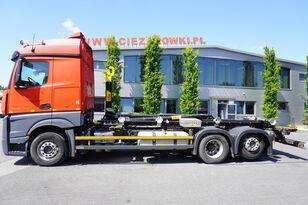 MERCEDES-BENZ Actros 2542 , E6 , 6X2 , NEW HOOK 20T HYVA , retarder , lift axl hook lift truck