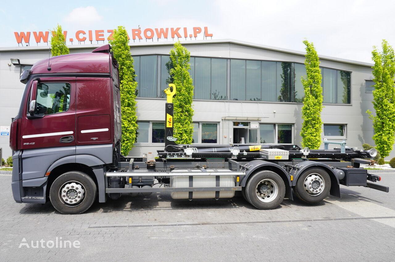 MERCEDES-BENZ Actros 2542 , E6 , 6X2 , NEW HOOK 22T HYVA , StreamSpace , ACC , hook lift truck