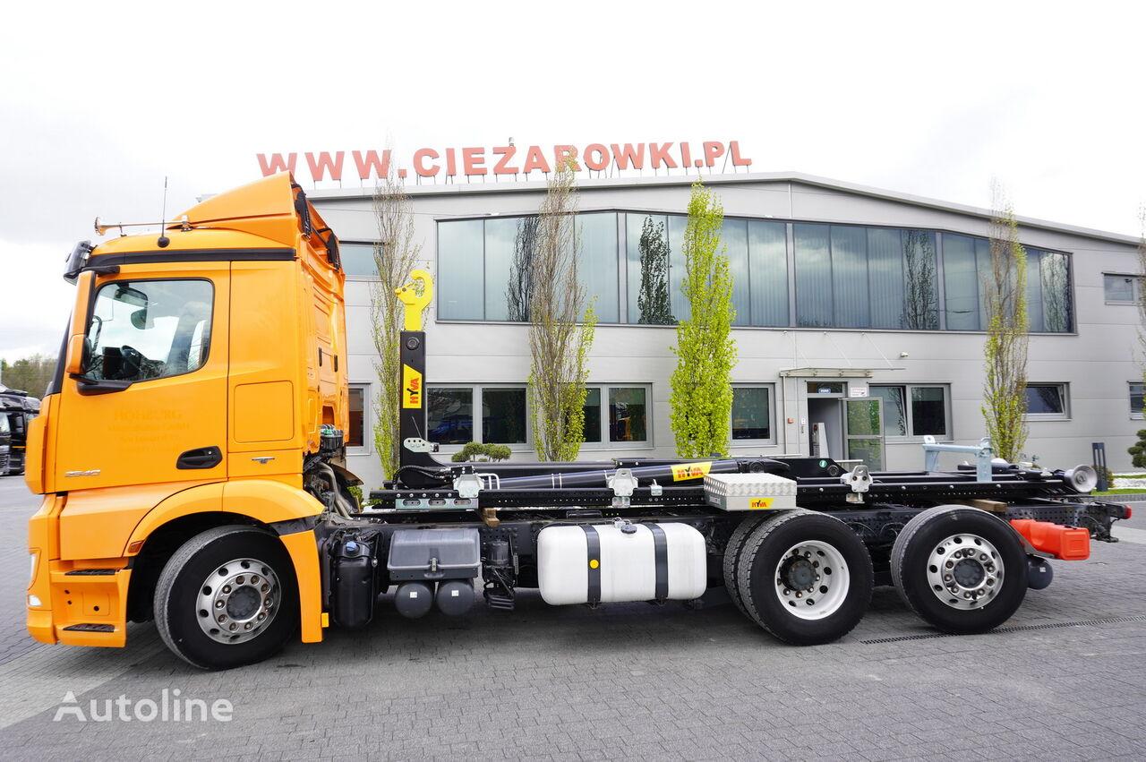 MERCEDES-BENZ Antos 2540 , E6 , NEW HOOK 22T , steer / lift axle , retarder  hook lift truck