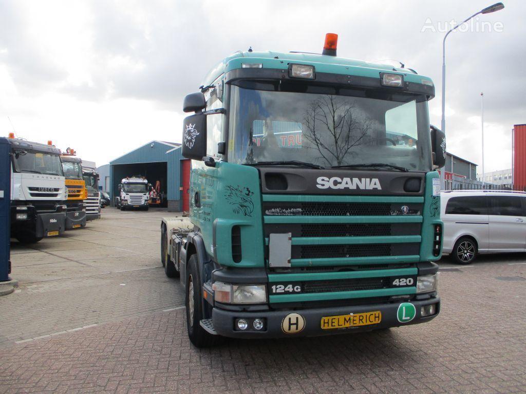 SCANIA 124 420 EURO 3 hook lift truck