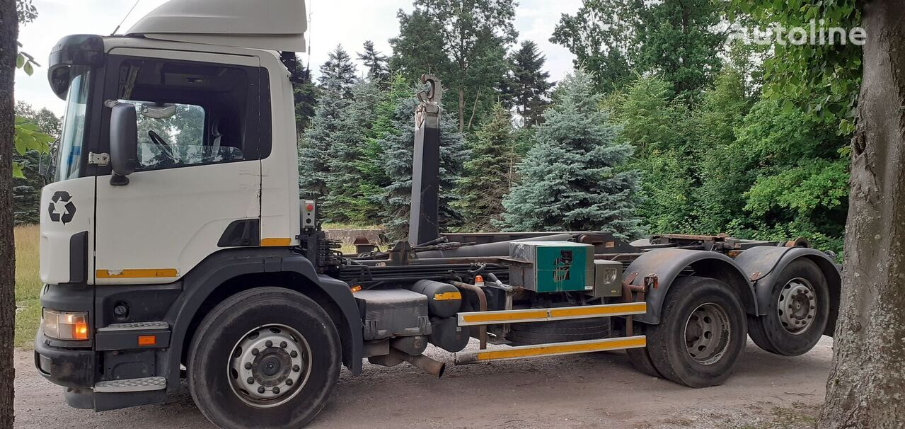 SCANIA 124L hook lift truck