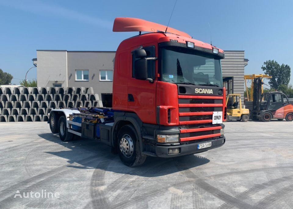 SCANIA 164G hook lift truck