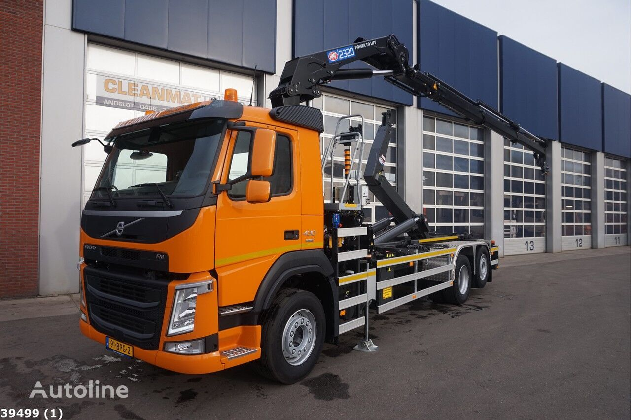 VOLVO FM 430 HMF 23 ton/meter laadkraan hook lift truck