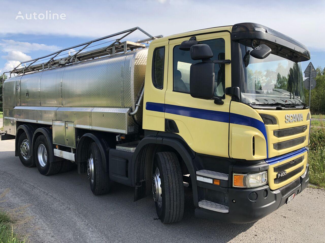 SCANIA P 400 KM 8x2 Beczka Do Mleka Sprowadzona Ze Szwajcarii milk tanker