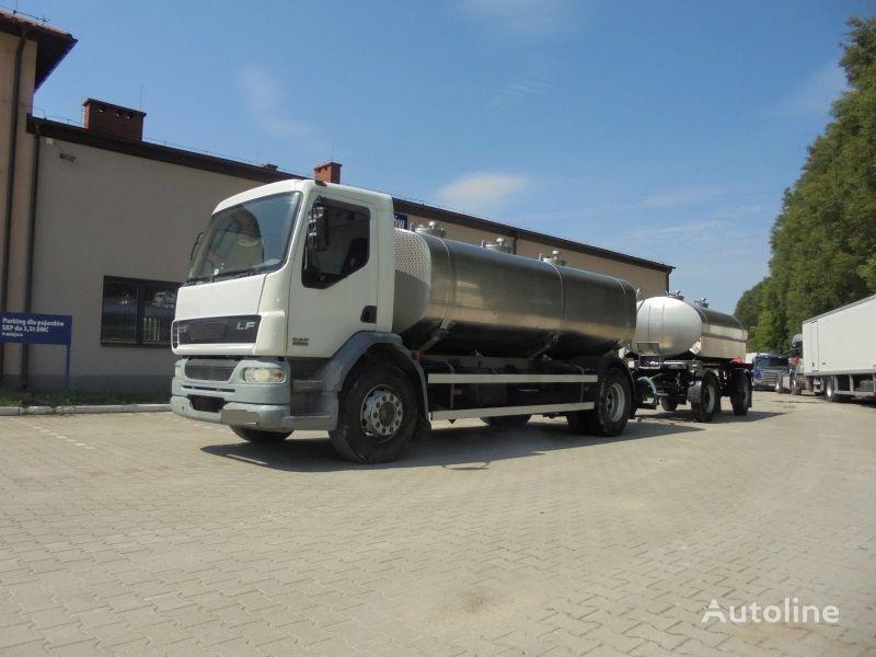 DAF LF 55.250 milk tanker + tank trailer