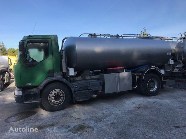 RENAULT 370 MET TANK ROESTVRIJ STAAL 11000 L-BLAD-HANDBAK milk tanker