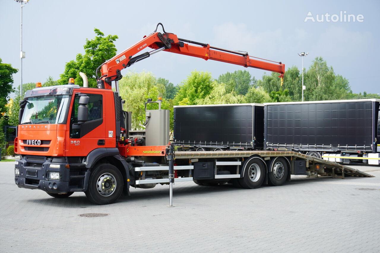 IVECO Stralis 360 , EEV , 6X2 , 7,80m , CRANE HIAB 166-10m/6,200kg , R platform truck