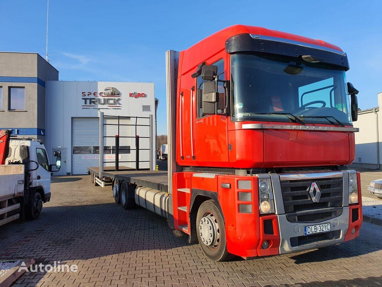 RENAULT Magnum DXI 480  platform truck + platform trailer