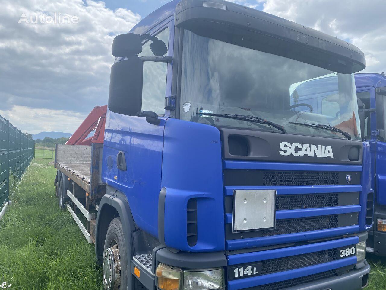 SCANIA 114L 380 + FASSI F110 platform truck
