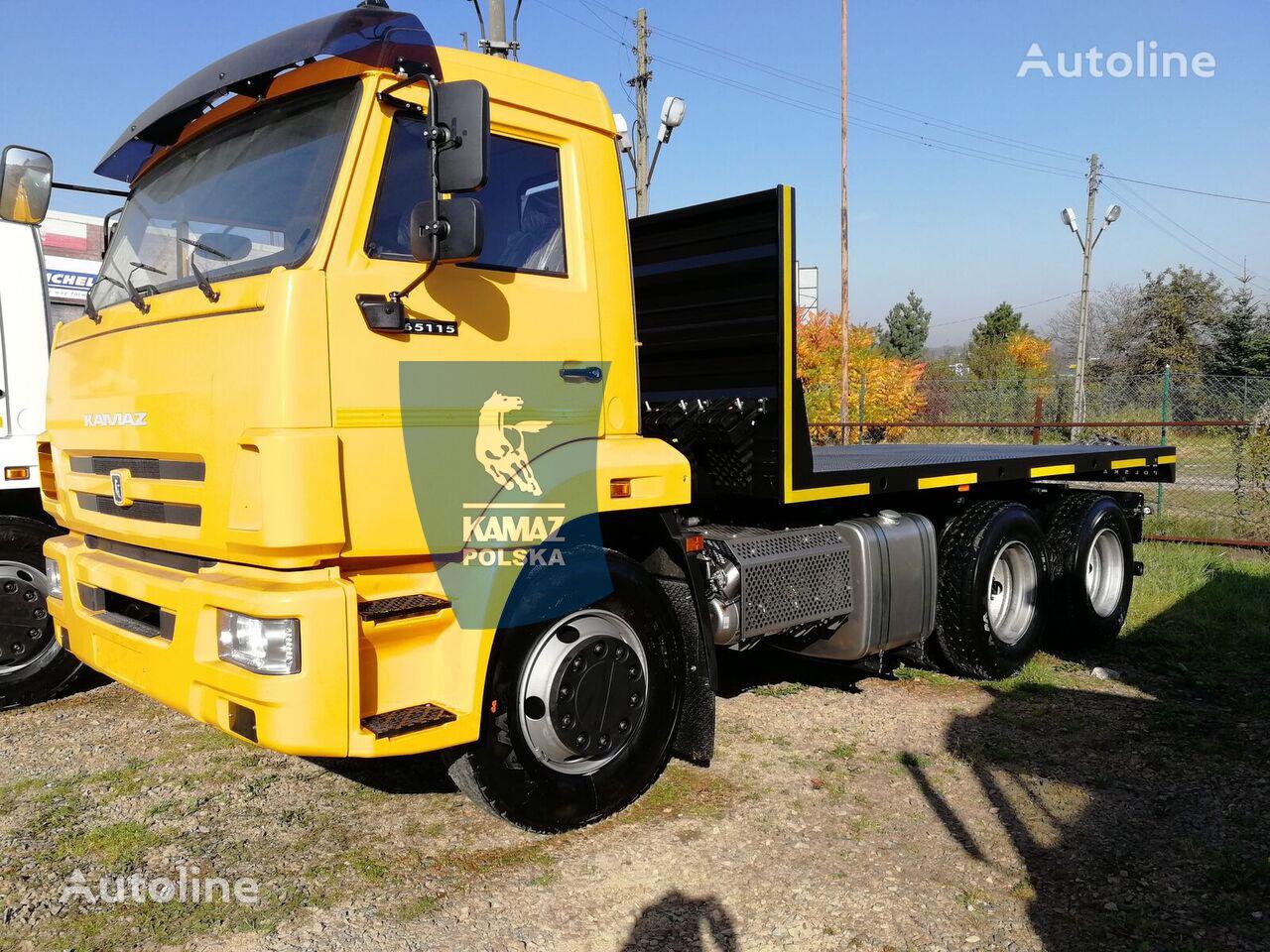 KAMAZ 6X4 platforma pod piaskarkę  OKAZJA platform truck