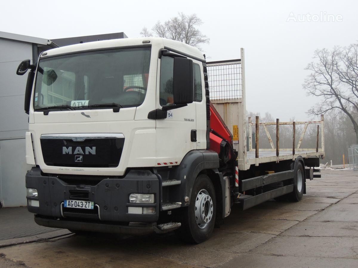 MAN TGS 18.320 platforma + Żuraw Fassi F130 platform truck