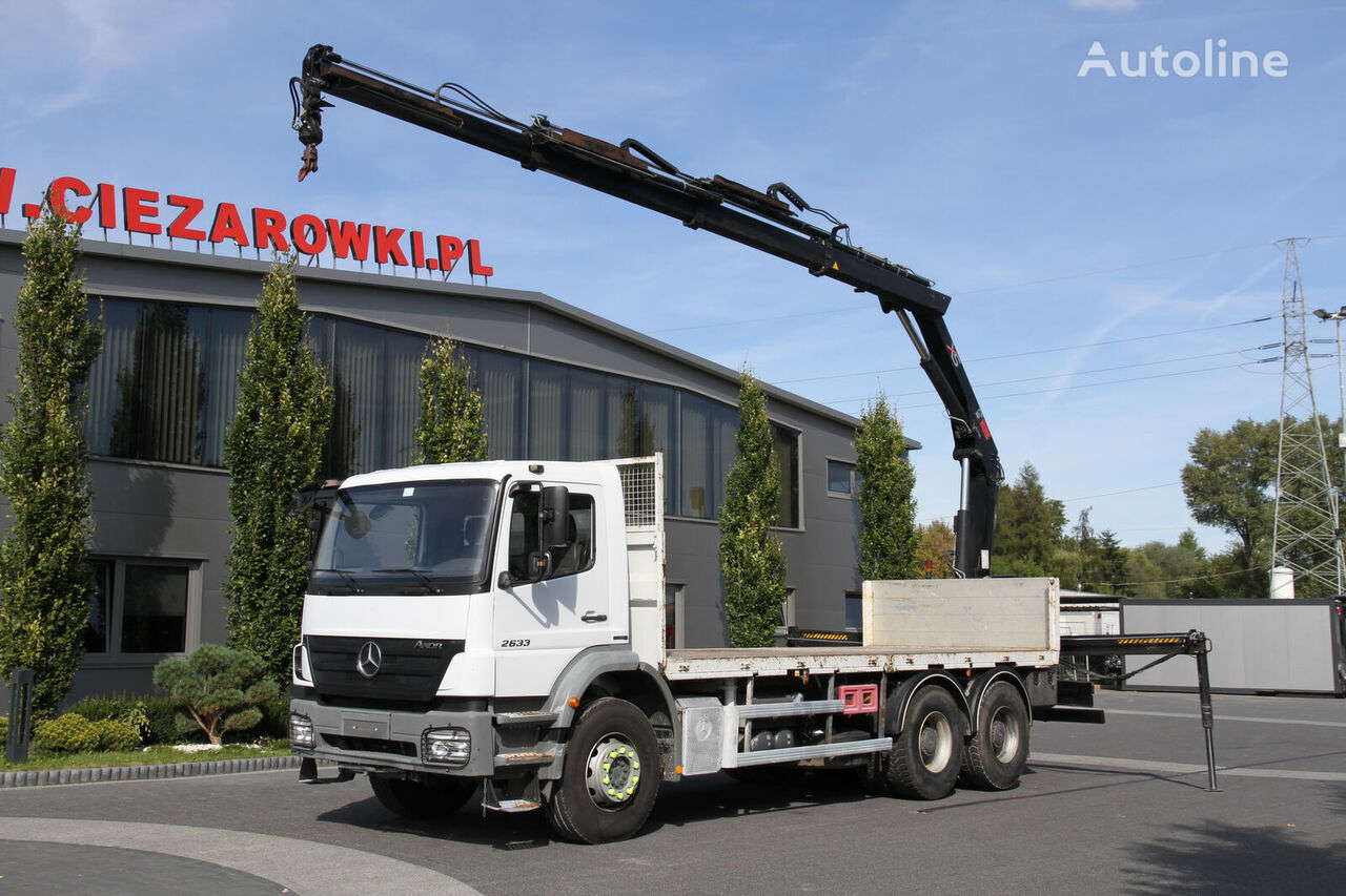 MERCEDES-BENZ AXOR 2633 6×4 BDF platform truck