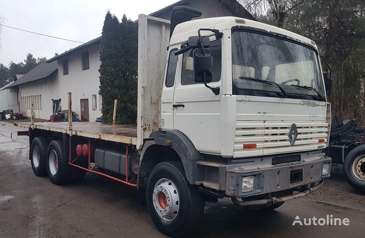 RENAULT G340 6x4 Maxter Steel/Steel (G300/Magnum/Major/385/420/430) platform truck