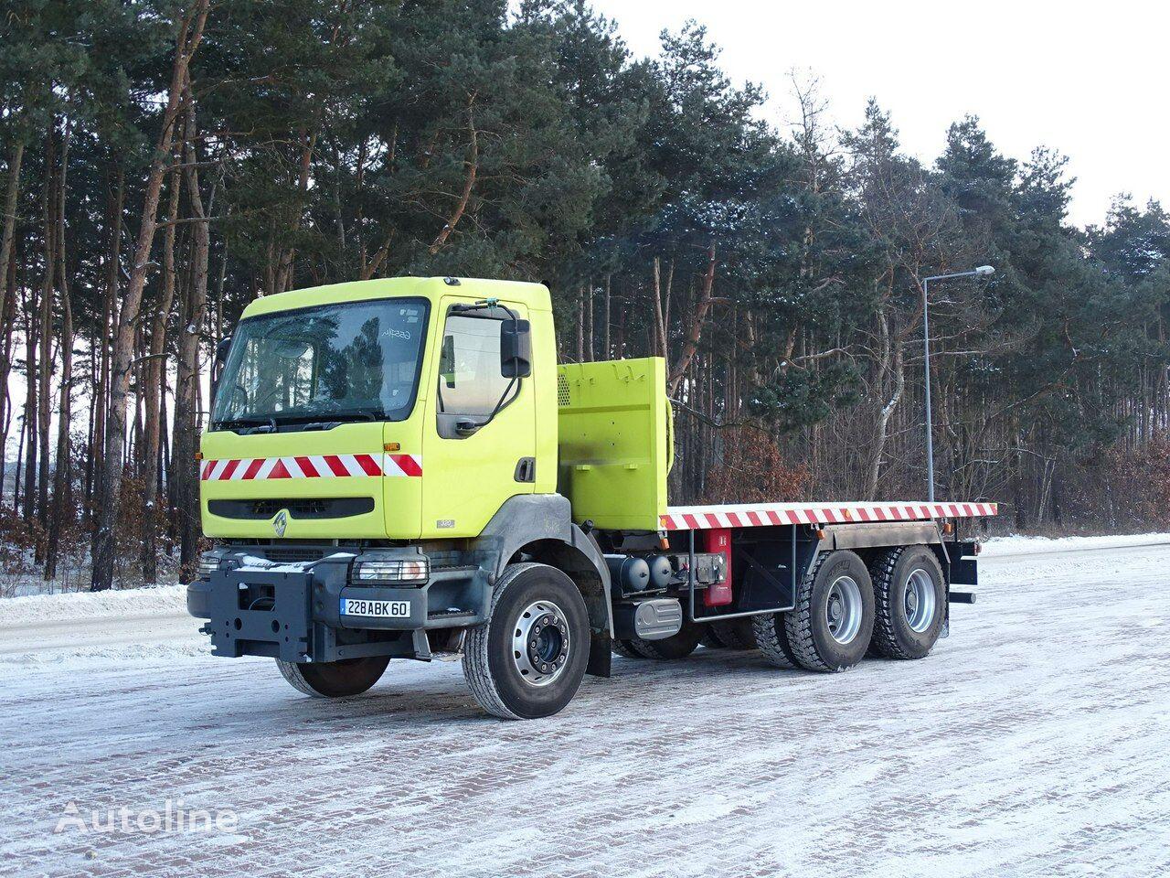 RENAULT KERAX Premium 320 DCI platform truck