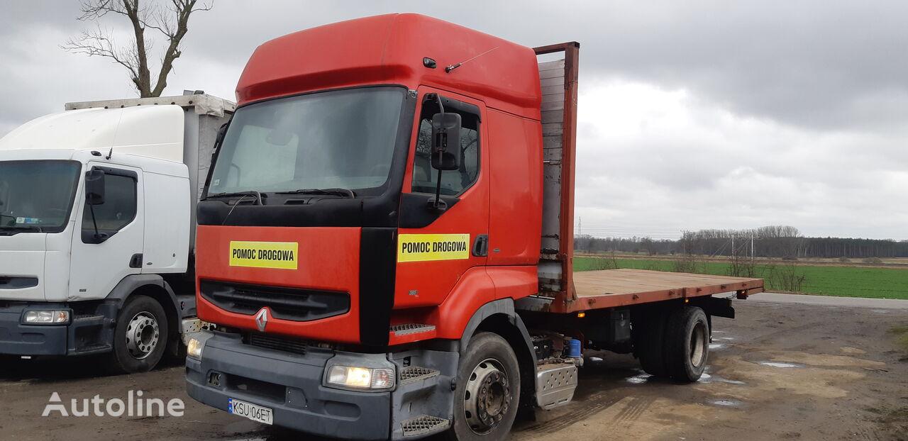 RENAULT Premium 385/ platform with steel floor  platform truck
