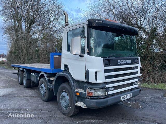 SCANIA 114c platform truck