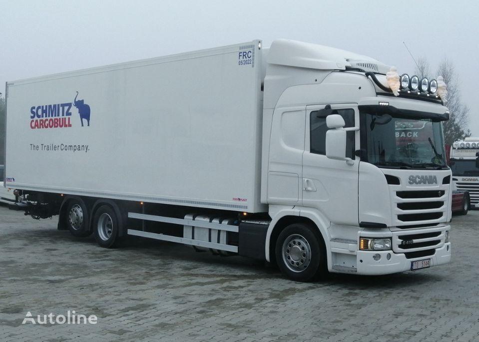 SCANIA R410 SCR bez egr 9,35m chłodnia mroźnia carrier supra 2015 oś sk refrigerated truck