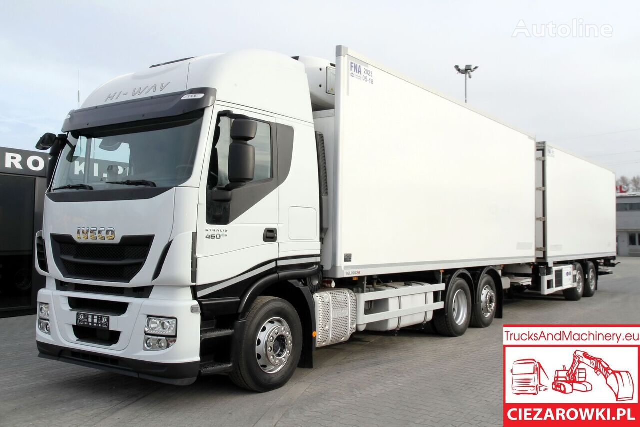 IVECO STRALIS 460 / E6 /Carrier / 18 EPAL +   WIELTON 18 EPAL /190k refrigerated truck + refrigerated trailer