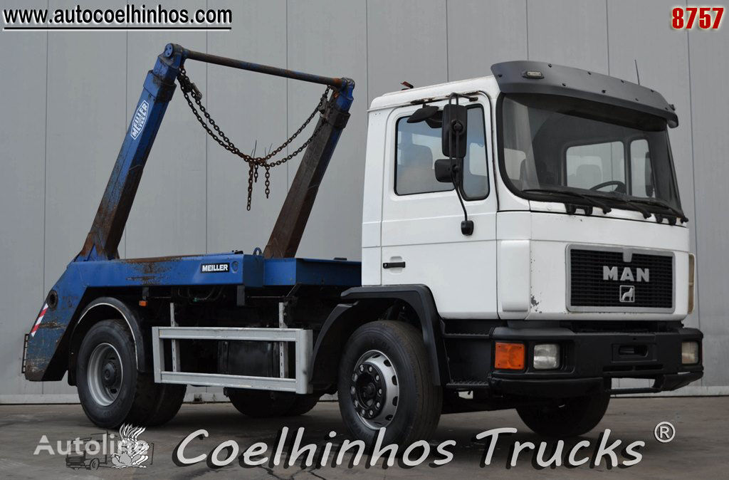 MAN 18.232 skip loader truck