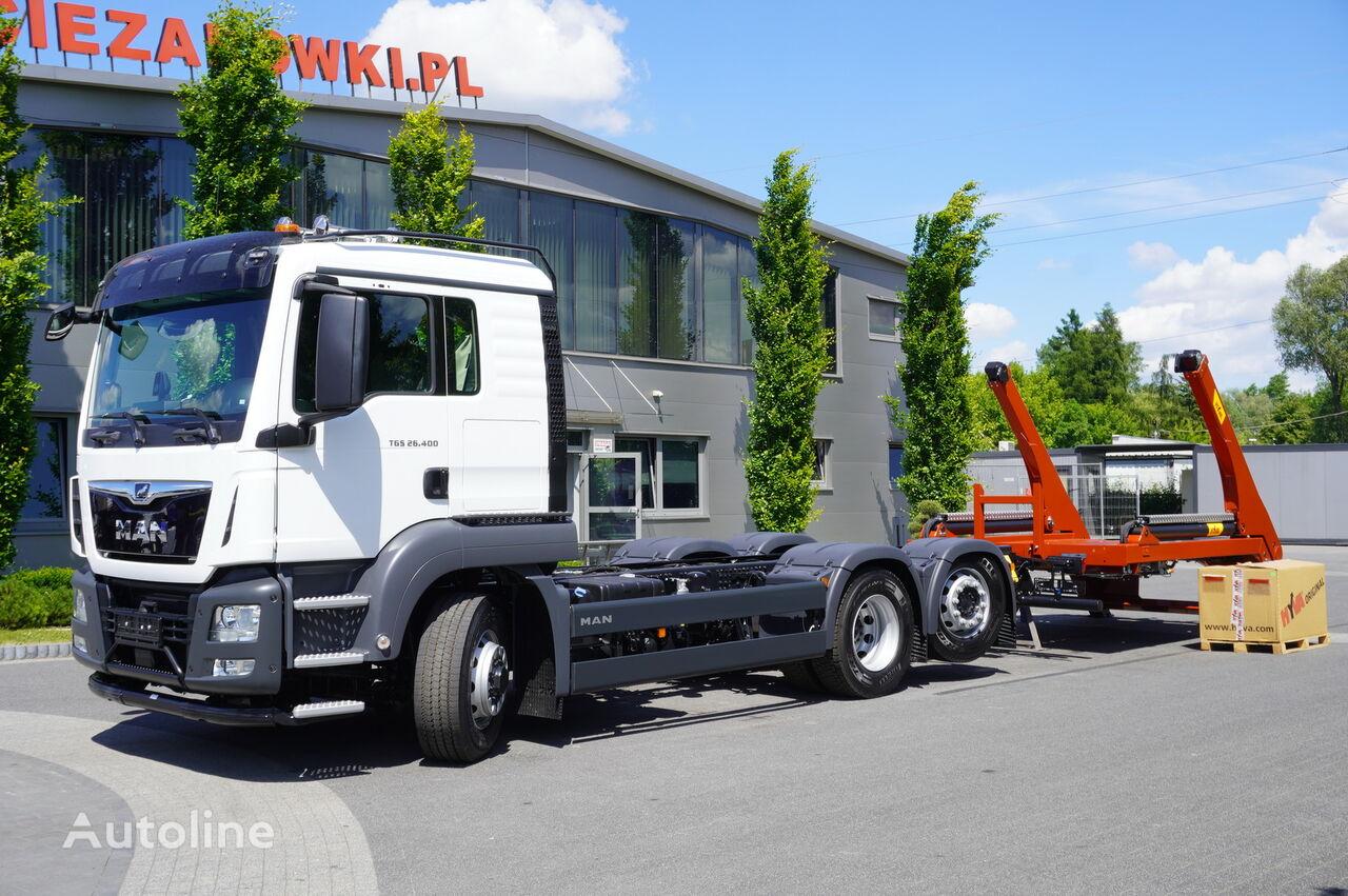 MAN TGS 26.400, HYDRODRIVE, Sleep CAB , NEW! E6, 6x4x4, NEW SKIPPER  skip loader truck