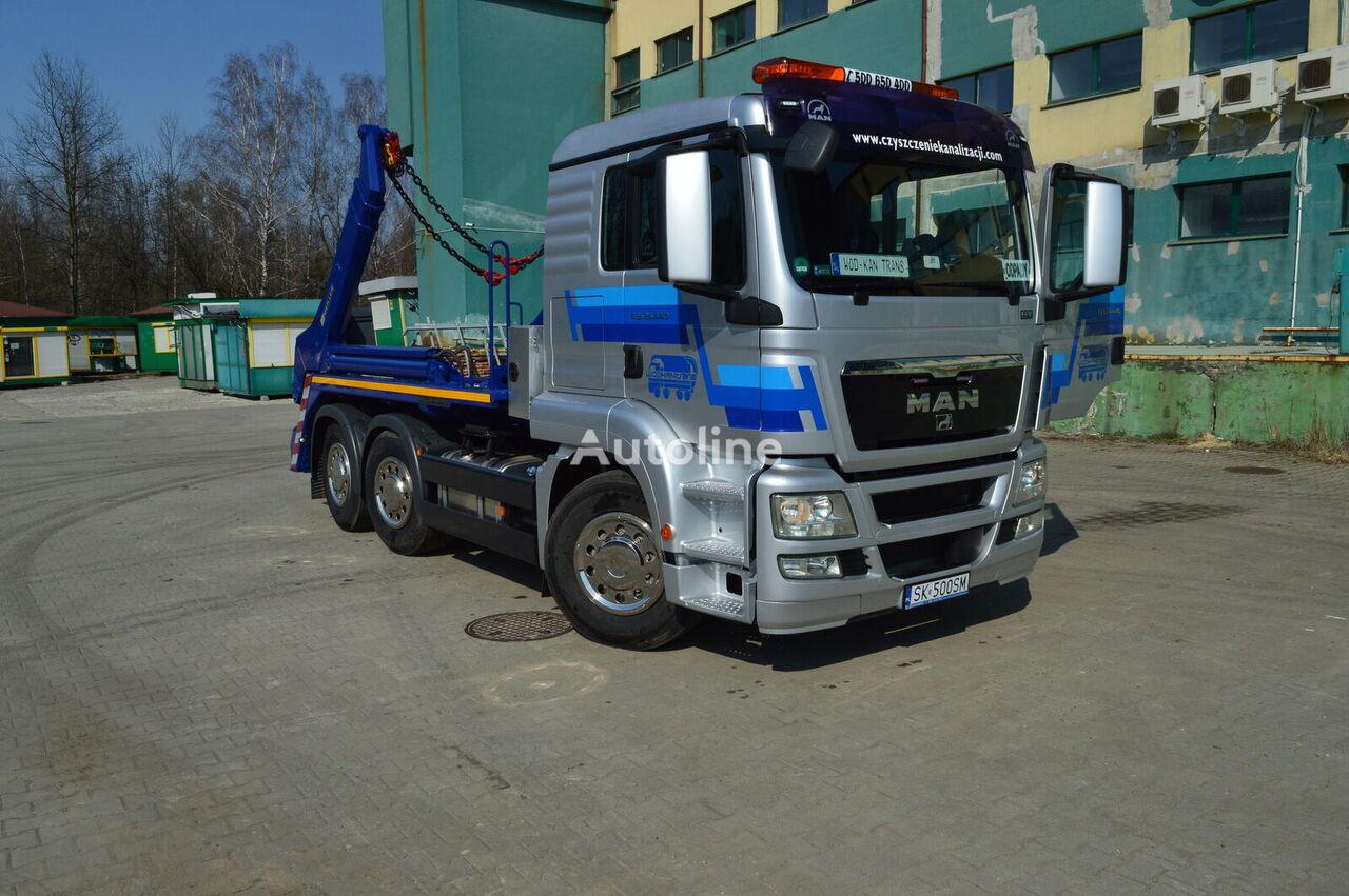 MAN TGS 26.440 skip loader truck
