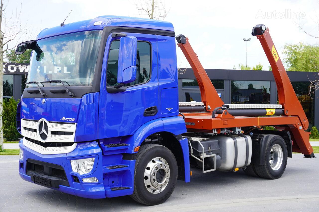 MERCEDES-BENZ Antos 1835 , E6 , NEW SKIPPER HYVA 12T , retarder , low cab  skip loader truck