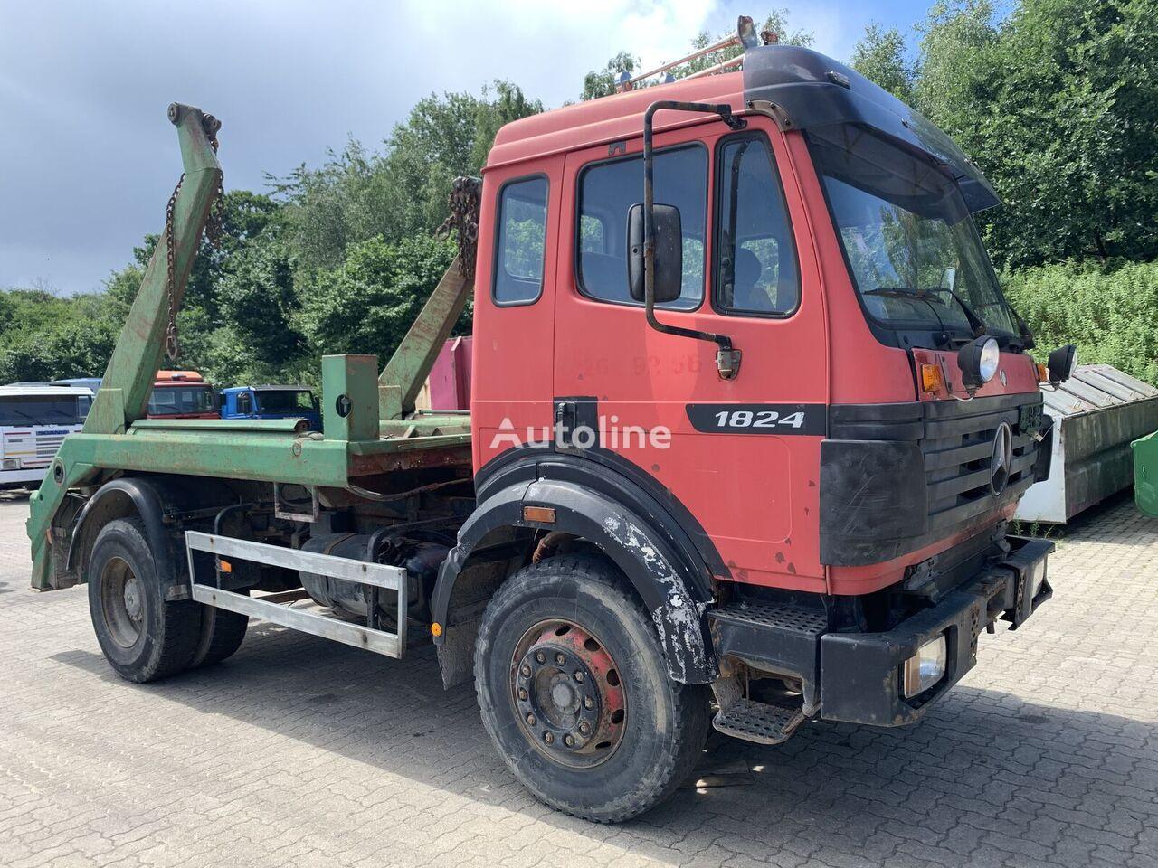 MERCEDES-BENZ SK 1824 4x2 full steel manual gear big axel skip loader truck