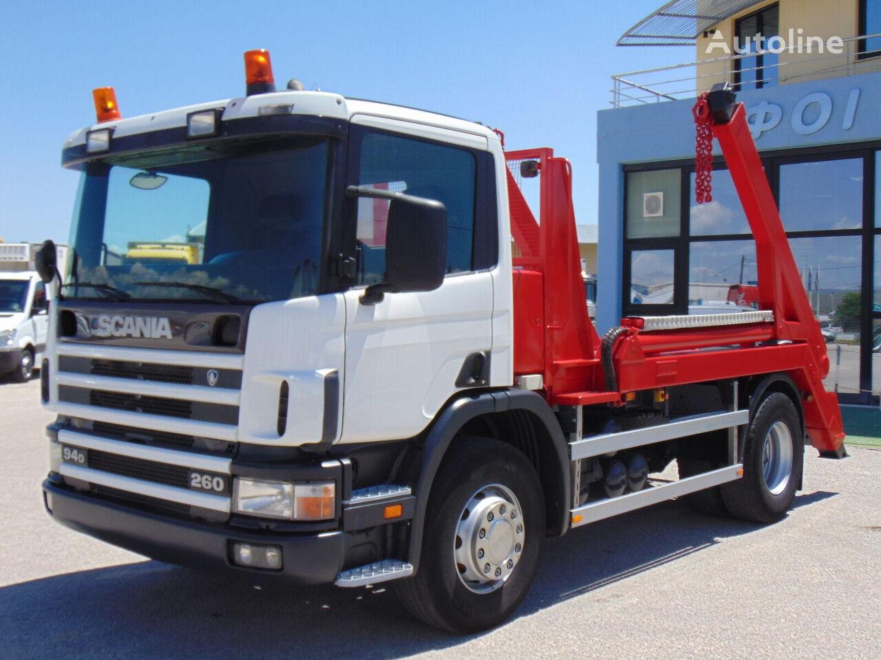 SCANIA 260-P 94 D skip loader truck