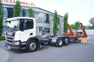 SCANIA P410, E6, 6x2, 60,000 KM, 6m frame, PTO, low cabin, NEW GATE 18T skip loader truck
