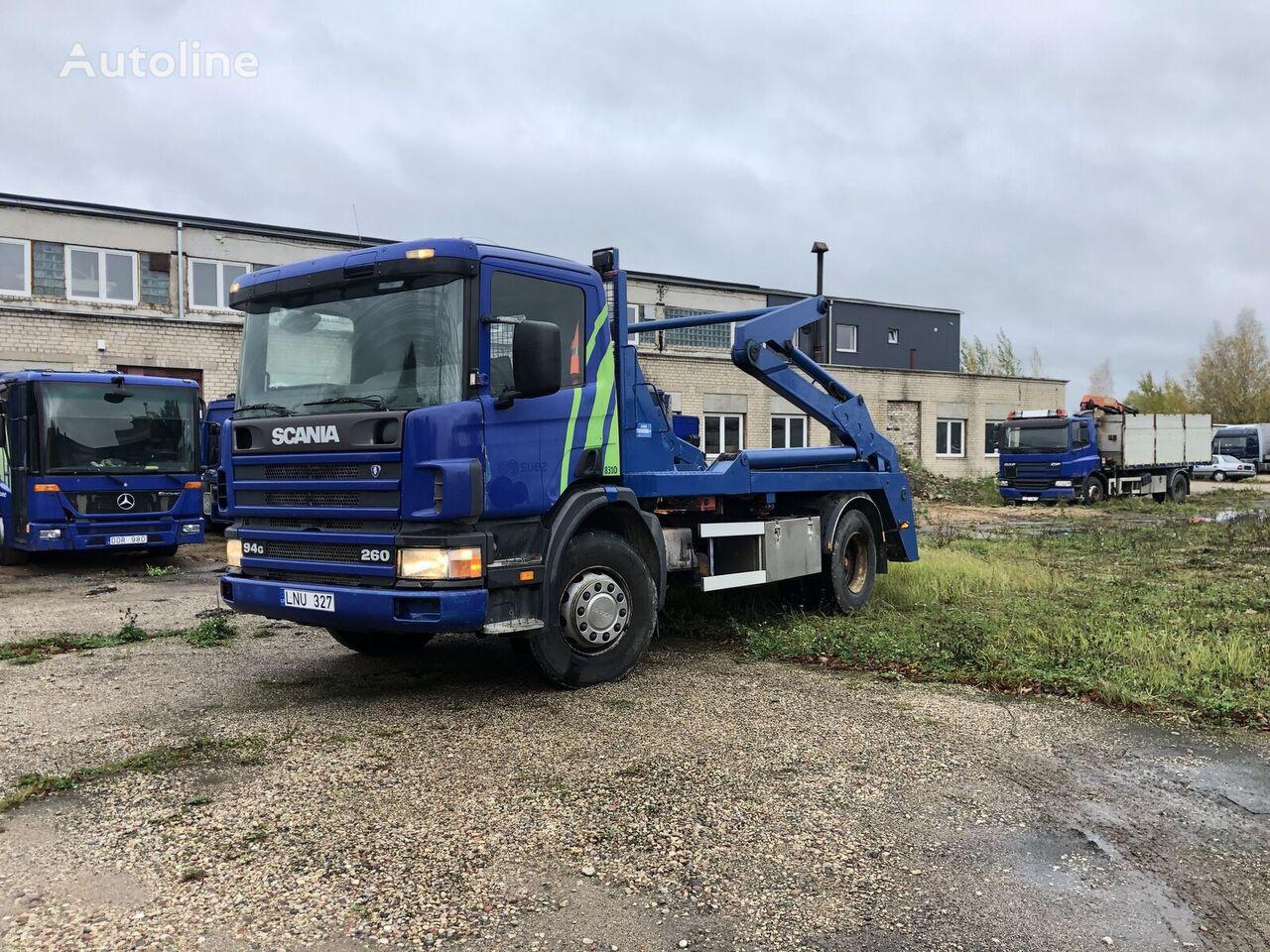 SCANIA P94 skip loader truck