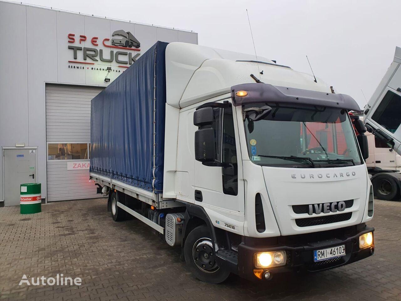 IVECO EuroCargo ML 75E18, Full Steel, Manual  tilt truck