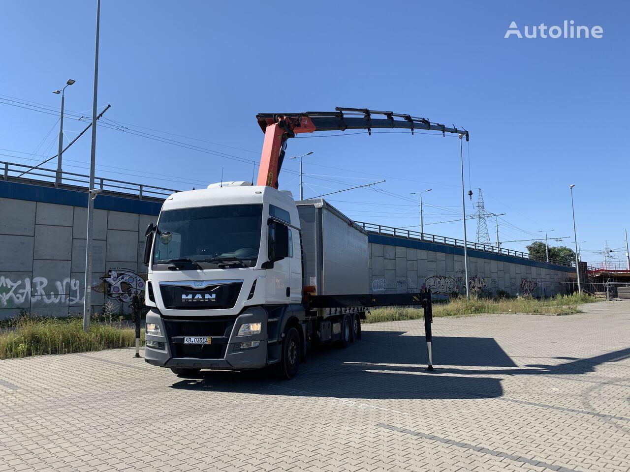 MAN TGX 26.400 PK 26002-EH + WINCH + LIFT tilt truck